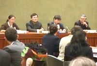 Sede ONU. Il dissidente cinese Wei Jingsheng parla all'onu.