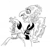VIGNETTA Pannella a letto inzuppa un biscotto a forma di Berlinguer in un cappuccino.
