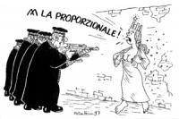 VIGNETTA Una donna che rappresenta l'Italia messa al muro, prima di essere fucilata da un plotone di giudici costituzionali, si scopre con orgoglio il