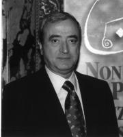 """Ritratto di Antonio Martino (deputato, FI, ex ministro degli Esteri) """"Conferenza per l'istituzione del Tribunale Penale Internazionale Permanente nel"""