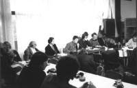consiglio federale del PR a Bohinj. Pannella, Modugno, Stanzani, Taradash  (BN)  Nelle altre i partecipanti al consiglio federale, e negativi.