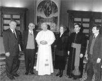 Il sindaco di Sarajevo Kresevljakovic e Ottoni ricevuti in udienza privata dal Papa Giovanni Paolo II