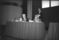 """Jimmy Carter (ex presidente USA) insieme a Emma Bonino al Carter Centre in occasione dell """"International Conference for the Estabilishment of an Crimi"""
