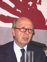 Lamberto Dini (Ministro degli Esteri, Italia) alla Conferenza per l'istituzione del Tribunale Penale Internazionale Permanente nel 1998.  Roma, Campid