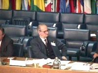"""ONU. Palazzo della FAO. Primo giorno della """"Conferenza dei Plenipotenziari per l'istituzione del Tribunale Penale Permanente"""". Il presidente della Con"""