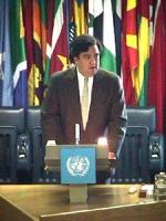 """ONU. Palazzo della FAO. Terzo giorno della """"Conferenza dei Plenipotenziari per l'istituzione del Tribunale Penale Permanente"""". Intervento di Bill Rich"""