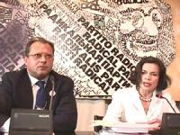 Sede PR. Conferenza stampa di Bianca Jagger con Marino Busdachin, Stefano Palumbo, Pietro Milio sul Tribunale Internazionale.