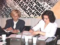 Sede PR. Bianca Jagger a colloquio con Emma Bonino