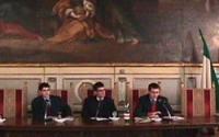 """Convegno """"Leva la leva"""", per la abrogazione della leva militare e civile, organizzato dal Partito Radicale.  Al tavolo della presidenza: Daniele Capez"""
