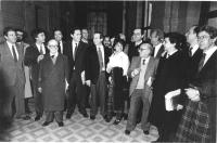 Presentazione dei 3 referendum sulla giustizia giusta. Teodori (PR), Calderisi (PR), Martelli (PSI), Rutelli (PR), Andò (PSI), Aglietta (PR), Stanzani