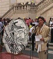 Manifestazione-fiaccolata, a sostegno del Tribunale Internazionale, in occasione della conferenza diplomatica Onu riunita a Roma. Francesca Scopelliti