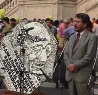 Manifestazione-fiaccolata a sostegno del Tribunale Internazionale, in occasione della conferenza diplomatica riunita alla Fao. Luigi Manconi, senatore
