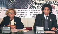 Emma Bonino e Marco Cappato nel corso della conferenza stampa per preannunciare la convocazione dell'Assemblea dei Mille. (Le altre, includono anche i