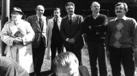 (Da sinistra): De Marchi, Spadaccia, Fiori, Zaffanella, Noci, Ravelli, riuniti per la campagna sui referendum per la giustizia giusta. (Proprietario d