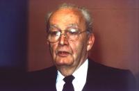 Ritratto di Massimo Severo Giannini, al 36° Congresso, II sessione.
