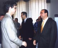 Incontro delegazione Parlamento EuropeoTranscaucasia con il presidente del parlamento georgiano Zurab Zhvania (già iscritto al Pr). In primo piano: Ol