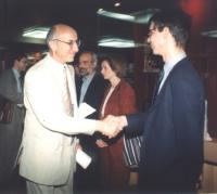Arif Radim-Zade (vice-presidente del parlamento azero) e Olivier Dupuis (eurodeputato, segretario del Pr), nel corso della visita della delegazione Pa
