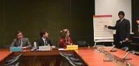 Commissione sui diritti umani. Briefing sulla questione del Kossovo. Da sinistra a destra: Paolo Pietrosanti, membro del consiglio federale del Partit