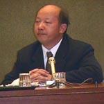 Commissione sui diritti umani. Briefing sulla situazione dei diritti umani in Cina e in Tibet. Ritratto di Law Yuk Kai, direttore dell'Hong Kong Human