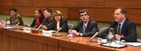 Commissione sui diritti umani a Ginevra. Briefing organizzato dal Partito Radicale sulla Moratoria Universale delle Esecuzioni Capitali. Da sinistra a