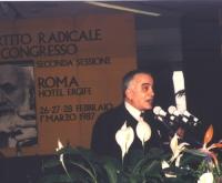 Ruggero Guarini interviene alla seconda sessione del XXXII  Congresso del Partito Radicale.