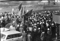 Prima protesta dei minatori a Trepca.