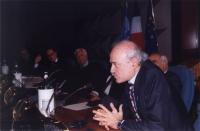 Sergio D'Elia (segretario di Nessuno Tocchi Caino), nel corso di una cerimonia organizzata al Ministero degli Esteri per celebrare la firma di altri 1