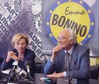 Conferenza stampa presso la sede di via Torre Argentina, per illustrare i costi della campagna elettorale della lista Bonino. Nella foto: Emma Bonino
