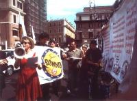 """In seguito a circostanziate denunce circa le affissioni abusive a Roma per la campagna elettorale delle europee, i militanti della lista Bonino """"ripul"""