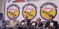 """Conferenza stampa per l'annuncio dei cosiddetti """"referendum days"""" (due giorni - 28 e 29 luglio - di mobilitazione straordinaria per la raccolta di fir"""