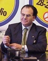 """Ritratto di Carlo Pelanda, presidente dell'Associazione del Buon Governo, nel corso della conferenza stampa per il lancio dei """"referendum days"""". (Vedi"""