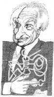 """VIGNETTA Ritratto-caricatura di Marco Pannella, disegnata da Fabio Sironi, apparso sul """"Corriere della Sera""""."""
