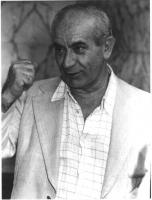 Ritratto di Franco Roccella (tra i fondatori del Partito Radicale, e deputato radicale). Mezzo busto.