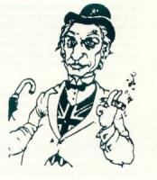 VIGNETTA Ritratto-caricatura di Marco Pannella, con bombetta nera, ombrello nero, gilet con lo stemma inglese. Firmato: A. Fremura, apparso sul quotid