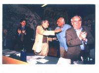 Quinto Congresso Italiano del Partito Radicale. Riconciliazione fra Zevi e Pannella, dopo l'aspra polemica, intrapresa dal presidente onorario del Pr