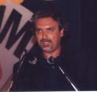 Ritratto di Danilo Quinto, tesoriere del Partito Radicale (in occasione del 5° Congresso Italiano del Partito).