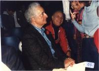 Mario Scaccia e Claudio Villa al 32° Congresso I sessione del Partito Radicale. 3859bis: Mario Scaccia e Claudio Villa (BN).