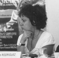Jean-Pierre Roche e Begonia Rodriguez durante una riunione radicale  (BN)