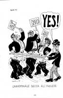 """VIGNETTA In calce la scritta: """"Uninonimale secca all'inglese"""". Umberto Bossi, esclamando """"YES!"""" con la scimitarra divide a metà i corpi di Martinazzol"""