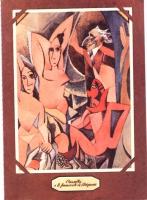 """VIGNETTA """"Pannella e le femministe di Avignone"""". Rielaborazione di Tullio Pericoli del celebre quadro di Picasso, con l'inserimento di un ritratto cub"""