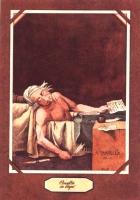 """VIGNETTA """"Pannella in bagno"""". Rielaborazione di Tullio Pericoli del quadro di David """"La morte di Danton"""", con Pannella al posto di Danton."""