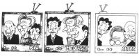 VIGNETTA Tre schermi televisivi. Sul primo, siglato Rai, i volti di Berlusconi, Bonino e D'Alema; sul secondo, siglato Mediaset, i volti di D'Alema, B