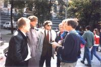 Incontro di Andrea Tamburi, Nikolaj Khramov e Vladimir Ivanov, con Stephen Brown, capo della missione delle Nazioni Unite in Ucraina e Bogdan Usovich,