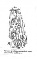 """VIGNETTA Pannella sotto la doccia. Didascalia: """"Pannella pronto per essere interrogato dal ministro dell'Interno"""". Vignetta apparsa sul quotidiano """"Il"""