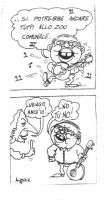 """VIGNETTA Craxi canta: """"Si potrebbe andare tutti allo zoo comunale..."""". Pannella: """"Vengo anch'io!"""". Craxi: """"...No tu no!"""". Vignetta pubblicata su """"Paes"""