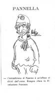 """VIGNETTA Pannella, corrucciato, con la divisa della marianna. Sotto la sua immagine, si legge la sua battuta: """"L'estradizione di Piperno è un'offesa a"""