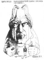 """VIGNETTA Pannella, ciuccio in bocca, stringe in una mano un soldatino di piombo, e con l'altra gli sfila il fucile. Titolo in alto: """"Pannella bambino"""
