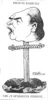 """VIGNETTA Sotto il titolo """"Digiuni radicali"""", vediamo la testa di Gianfranco Spadaccia (sopracciglia aggrottate e bocca aperta in un discorso che si in"""