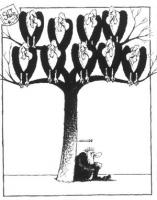 VIGNETTA Un tossicodipendente siede appoggiandosi al tronco di albero, dopo avervi infitto una siringa. Sui rami degli alberi si appollaia uno stormo
