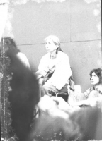 Adele Faccio durante una assemblea (BN)